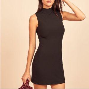 Reformation Sana Ribbed Mini Dress